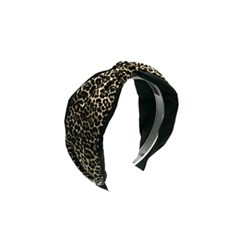 layered leopard hairband