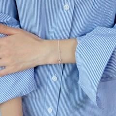 (92.5 silver) soft ball bracelet