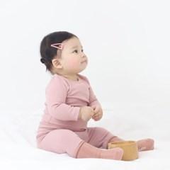 [메르베] 올스판 후라이스 딥핑크 유아 아기내복/내의/_(1333441)