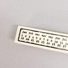 Long Calendar Grungy