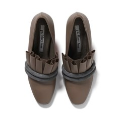 pipe pleats pumps (gray)