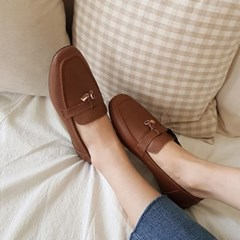 kami et muse Lock pendent leather loafers_KM19w037