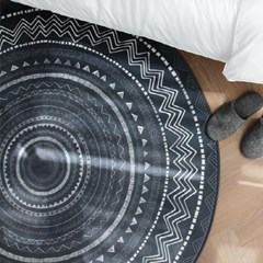 메이 에스닉 원형 러그 - 2color
