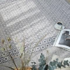 모노 에스닉 골지 사계절 러그 - 1color