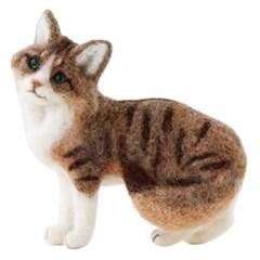 하마나카 니들펠트 양모 놀숲 고양이 키트