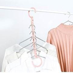 수평 수직 옷걸이 정리대 1개(색상랜덤)