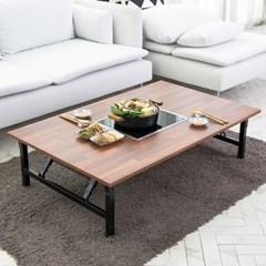 모리 인덕션 멀바우 접이식 테이블/기능성 테이블(인덕션포함)