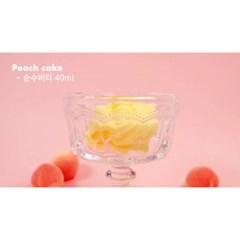 [젤시스슬라임] 복숭아케이크/버터+생크림+물샤베트 / 250ml