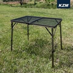 카즈미 아이언메쉬 2폴딩 캠핑테이블 II K9T3U001 / 2단높이조절 접