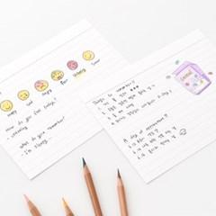 룰드 인덱스카드 화이트 100매 - 5x7