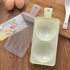 전자레인지용 계란후라이기 1개(색상랜덤)