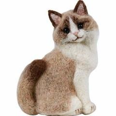 하마나카 니들펠트 양모 랙돌 고양이 키트