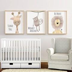 아이방 액자 일러스트 동물 그림 포스터 12종