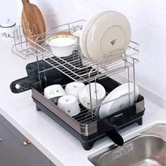 [아토소] 얼반 식기건조대 싱크대 설거지 정리 선반 2TYPE