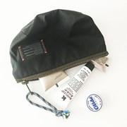 compact nylon pouch_black
