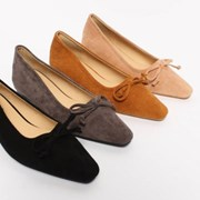 kami et muse 3.5cm tall up suede ribbon flat_KM19w047