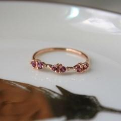 마렐 원석 로즈 반지(3type)(1월,11월탄생석)