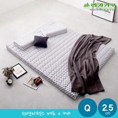 라자가구 오브 천연라텍스 매트 2.5cm Q+커버 NA8903