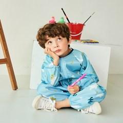 뺴꼼 유아 전신미술가운