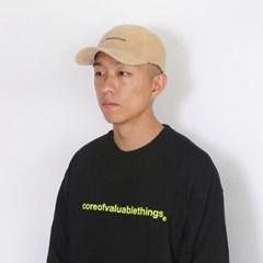 CORDUROY CORE CURVED CAP-BEIGE