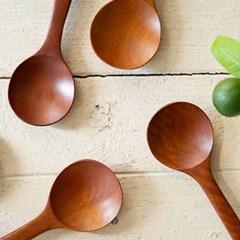 천연 옻칠 원형 볶음 / 나무 주걱 스푼 뒤집개 조리도구