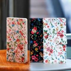 아이폰8플러스 Jardine 꽃무늬 지갑 다이어리 케이스_(2349455)