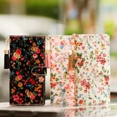 아이폰8플러스 Jardine-T 꽃무늬 지갑 다이어리 케이스_(2349454)