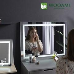 [우아미] 퍼블릭 LED 터치 직사각 화장대 거치 거울_(1726401)