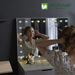 [우아미] 퍼블릭 LED 직사각 화장대 거치 거울_(1726400)