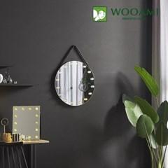 [우아미] 퍼블릭 LED 원형 스트랩 벽걸이 거울_(1726394)
