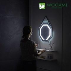 [우아미] 퍼블릭 LED 터치 팔각 스트랩 벽걸이 거울_(1726393)