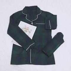 프리미어 검녹 체크패턴 여성잠옷