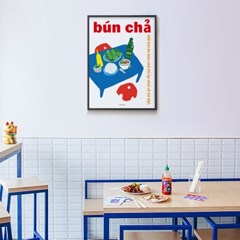 베트남 유니크 인테리어 디자인 포스터 M 분짜 맥주