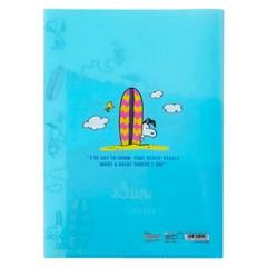 스누피 클리어 5포켓 파일_서핑 스누피