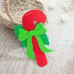 펠트 리본 지팡이 25cm 트리 장식 크리스마스 TROMCG_(1503277)
