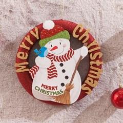 보드눈사람 레드링 25cm 트리 리스 크리스마스 TROMCG_(1503271)