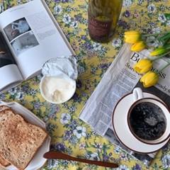 가을들꽃 옐로우 식탁보 테이블보 2size 테이블러너