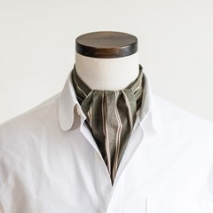 BP STRIPE CRAVAT (olive)