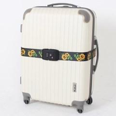 [TCUBE] TSA 3다이얼 여행가방 터짐방지 가방보호벨트 - 해바라기