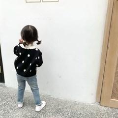 돌핀웨일 땡땡닷 가디건(80~130cm)