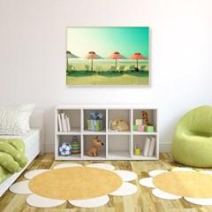 여름 인테리어 거실 그림 액자 해변 비치 파라솔