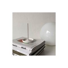 Circle Incense Holder White