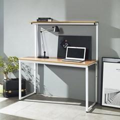 [데코마인] 오브리 스틸 선반책상 1200 철제책상 원목테이블