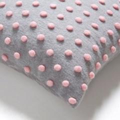 테키 폼폼 쿠션커버 핑크