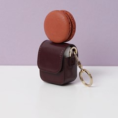 FENNEC LEATHER AIRPODS CASE - WINE