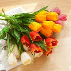 베이직튤립부쉬 38cm  FAIAFT 조화 꽃 인테리어소품_(1511172)