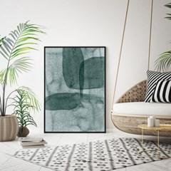 패브릭 포스터 캔버스 인테리어 액자 현대미술 추상화 그린블루A