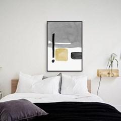 추상화 거실 그림 패브릭 포스터 인테리어 액자 그레이 수채화