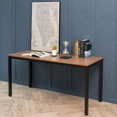 어썸 스칸월넛 1500 입식 컴퓨터 책상 일자 블랙 /테이블