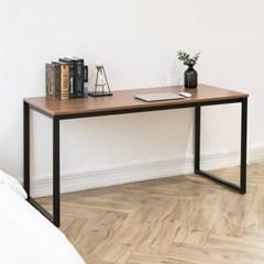 디어 스칸월넛 1500 입식 컴퓨터 책상 네모 블랙/테이블
